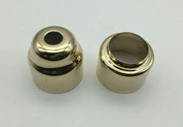 2 x Ideal Standard Trevi Traditional shower handle cover sleeves. Gold
